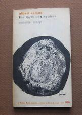 THE MYTH OF SISYPHUS by Albert Camus - 1st Printing Vintage PB 1955 - philosophy