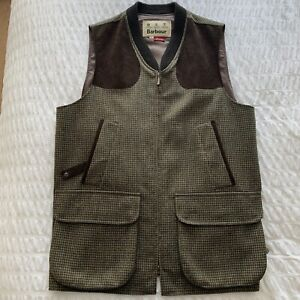Barbour Sporting Tweed Waist Coat For Shooting Size XL