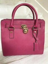 NWT MICHAEL Michael Kors NS Hamilton Saffiano Leather Satchel - PINK