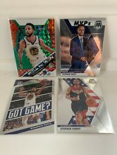 2019-20 Panini Mosaic Stephen Curry Lot of (4) Inserts Warriors MVP Steph Curry