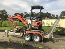 Kubota excavator 2016 Model 1.7 Tonne For Hire