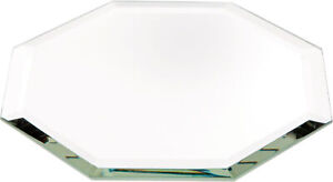 Plymor Octagon 3mm Beveled Glass Mirror, 4 inch x 4 inch (Pack of 3)
