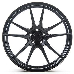 "20"" Rohana RF2 Matte Black Concave Wheels for Mercedes"