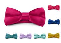 Moda Di Raza - Boys / Young Men Bow Tie Pre Tied 4x2 inch Satin Silk BowTies