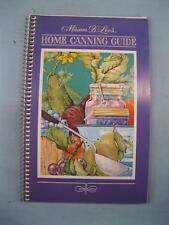 Miriam B Loos Home Canning Guide Vintage Cookbook Book 1981 Current Inc (O2)