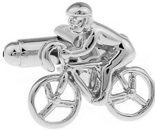 Bicycle Silver Cufflinks Formal Wear Novelty Business Wedding Gift for Suit