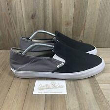 Vans Surf Siders Slip On Sneaker Shoes Black/Gray/White Mens Size 12