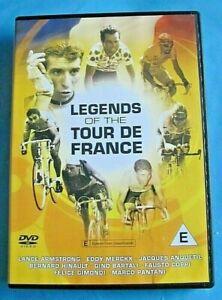 LEGENDS OF THE TOUR DE FRANCE DVD 250 Mins Merckx Armstrong Bartali etc All Reg
