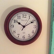 """NEW HP SHABBY COTTAGE CHIC COUNTRY BARN RED 9""""ROUND WALL CLOCK MAKES GREAT GIFT"""