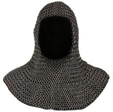 Medieval Chainmail Coif Knights Chain Mail Hood Chainmail Clothing Larp Armor