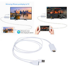 2M USB To AV HDMI/HDTV 1080P TV Adapter Cable For Apple iPhone 7 Plus 6 6S iPad