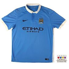 Manchester City 2015/16 Home Soccer Jersey XL Nike EPL