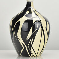 Abstract Mid Century Modern French Studio Art Pottery Table Lamp Base