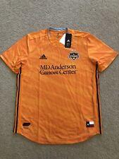 NWT Size XL Men Houston Dynamo Adidas 2019 Primary Authentic Jersey Orange Black