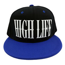 HIGH LIFE BLACK/BLUE (FLOCK) Snapback Cap