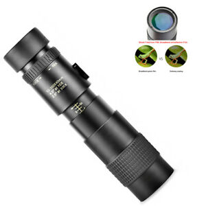 4K 10-300X40mm Super Telephoto Zoom Monocular Telescope Portable For Camping