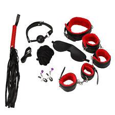 Adult Fun 8pcs/set Leather Bondage Handcuffs Sex Games Toys For Couple Kits