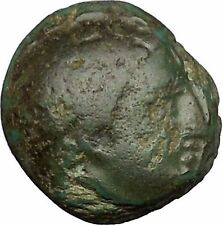 Philip II Alexander the Great Dad OLYMPIC GAMES Ancient Greek Coin Horse i51636