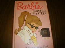 Vintage BARBIE SOLVES A MYSTERY Book by Cynthia Lawrence 1963 Mattel