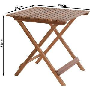 Gartentisch Falttisch Tisch Balkontisch Klapptisch Akazie Holz 56x56x51cm V340