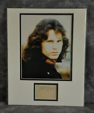 Jim Morrison Matted Photo Display w/ Pre-Printed Copy of an Original Signature