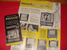 1957 Philco Diamond D Television Advertising  Brochure