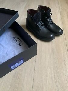 Allen Edmonds Higgins Mill Boot Black Leather Size 9.5 D NEW With BOX