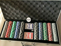 500 Chip piece Poker Set with Cards and Lockable Case