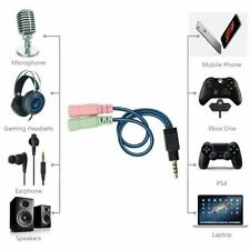 US Cable Jack 3.5mm Headset Adapter Splitter Kit Mutual Convertors for PC PS4
