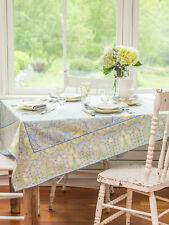 April Cornell Tablecloth Jamavar Collection 36x36 NWT 100% Cotton Soft Blue