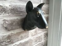 English Bull Terrier     Wall Mounted.  Ornament Figurine