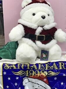 1998 Dayton Hudson Santa Bear Collectable   Christmas Plush Santabear with Bag