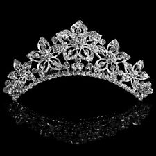 Wedding Bridal Tiara Crown Crystal Rhinestone Pageant Prom Hair Comb Headband