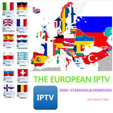 IPTV Europe 3000+Channel 18000Vod IPTV SUBSCRIPTION WITH ADULT 12Hours