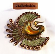 Wow David Andersen Emaille Vogel Brosche 925 Silber old enamel brooch / YY 925