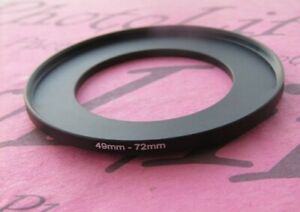 49mm to 72mm Stepping Step Up Filter Ring Adapter 49mm-72mm