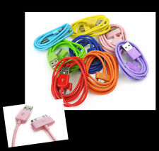 3FT USB SYNC POWER CHARGER 8X COLOR CABLE IPHONE 4S IPOD TOUCH CLASSIC NANO IPAD