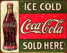 COKE- c. 1916 Ice Cold  #1299 mancave garage automotive metal sign nostalgia