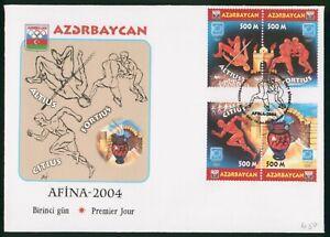 MayfairStamps Azerbaijan Olympic Motto 2004 Cover wwp61351