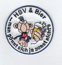 Hamburg  Aufnäher,Patch für die Kutte  HSV & Bier man gönnt sich ja sonst nichts