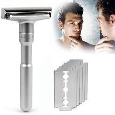 Men Vintage Stainless Steel Double Edge Shaving Blades Shaver Safety Razor 109mm