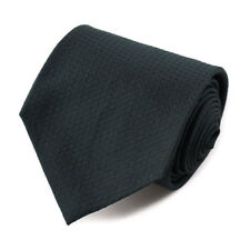 New $230 ISAIA NAPOLI 7-Fold Forest Green Subtle Woven Pattern Silk Tie