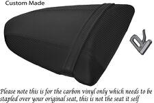 CARBON FIBRE VINYL CUSTOM FITS KAWASAKI NINJA ZX6R 600 05-06 REAR SEAT COVER