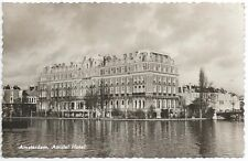 Postcard Netherlands Amsterdam Amstel Hotel Holland RPPC Real Photo 1959