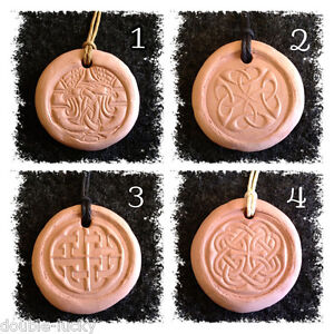 CELTIC Terracotta Clay Diffuser  AROMATHERAPY PENDANT with Essential Oil Blend