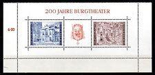 Austria 1976 200 years Burgtheatre Mi. Block 3 MNH
