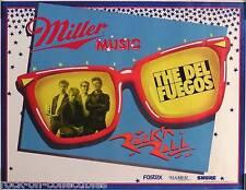 The Del Fuegos 1985 Rock N' Roll Miller Music Original Promo Poster
