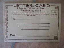 Vintage Souvenir RAMSGATE Letter Card Gravure Edition De Luxe + 6 Illustrations