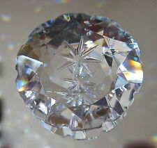 Bohemian Crystal Starburst Prism Ornament,  has etched Star in Center, 50mm