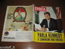 EPOCA 1962/602=J.F. KENNEDY=MAZZARINO=VASCO PRATOLINI=LIZ TAYLOR=JEANNE MOREAU=